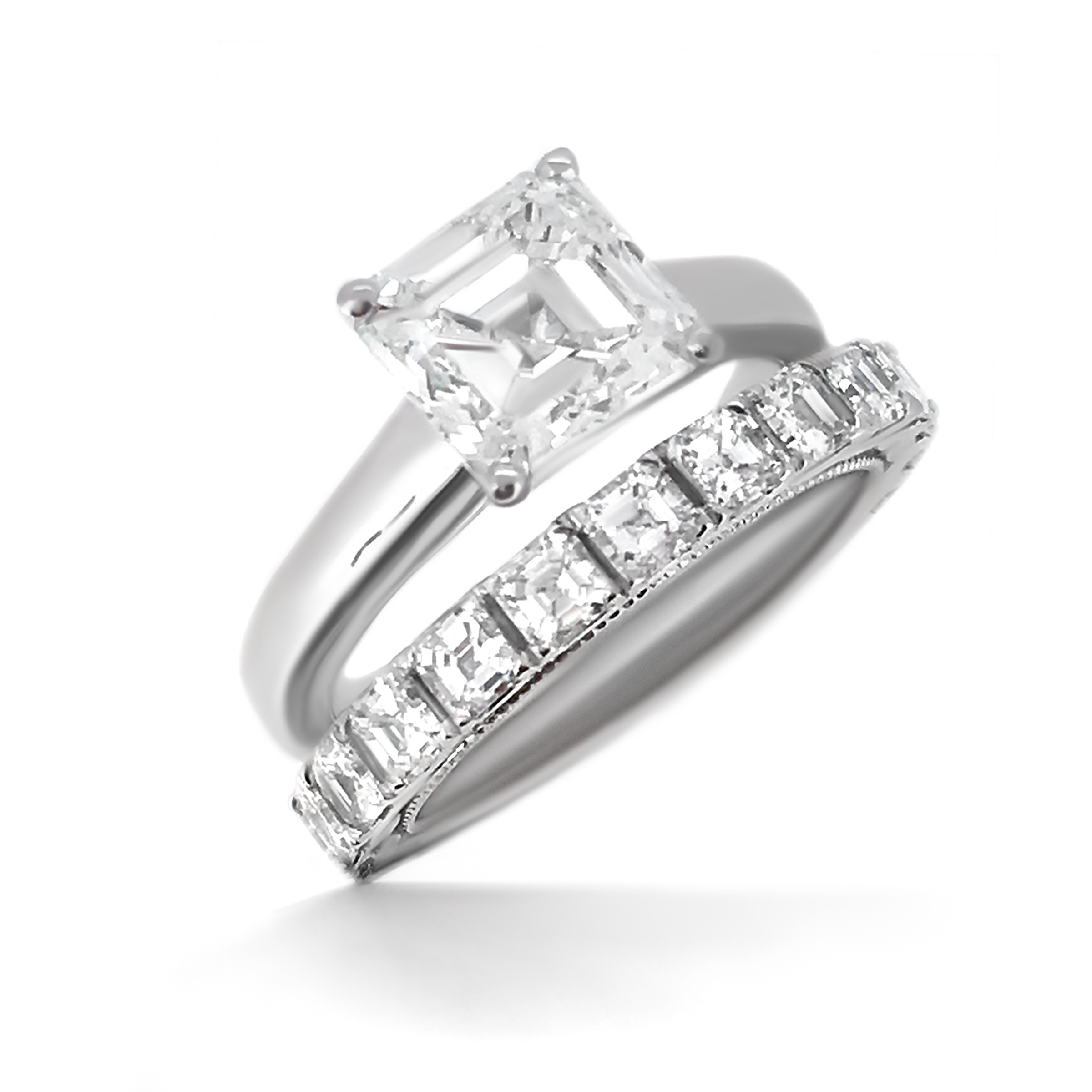 Asscher Cut Diamond Engagement Ring Haywards Bespoke Jewellery