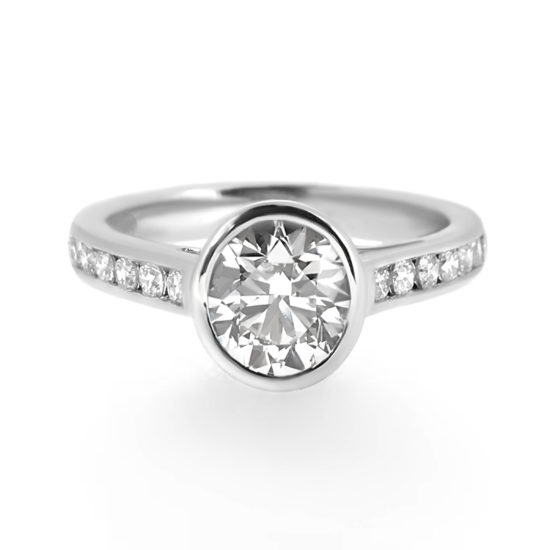 bezel set diamond ring- haywards of hong kong