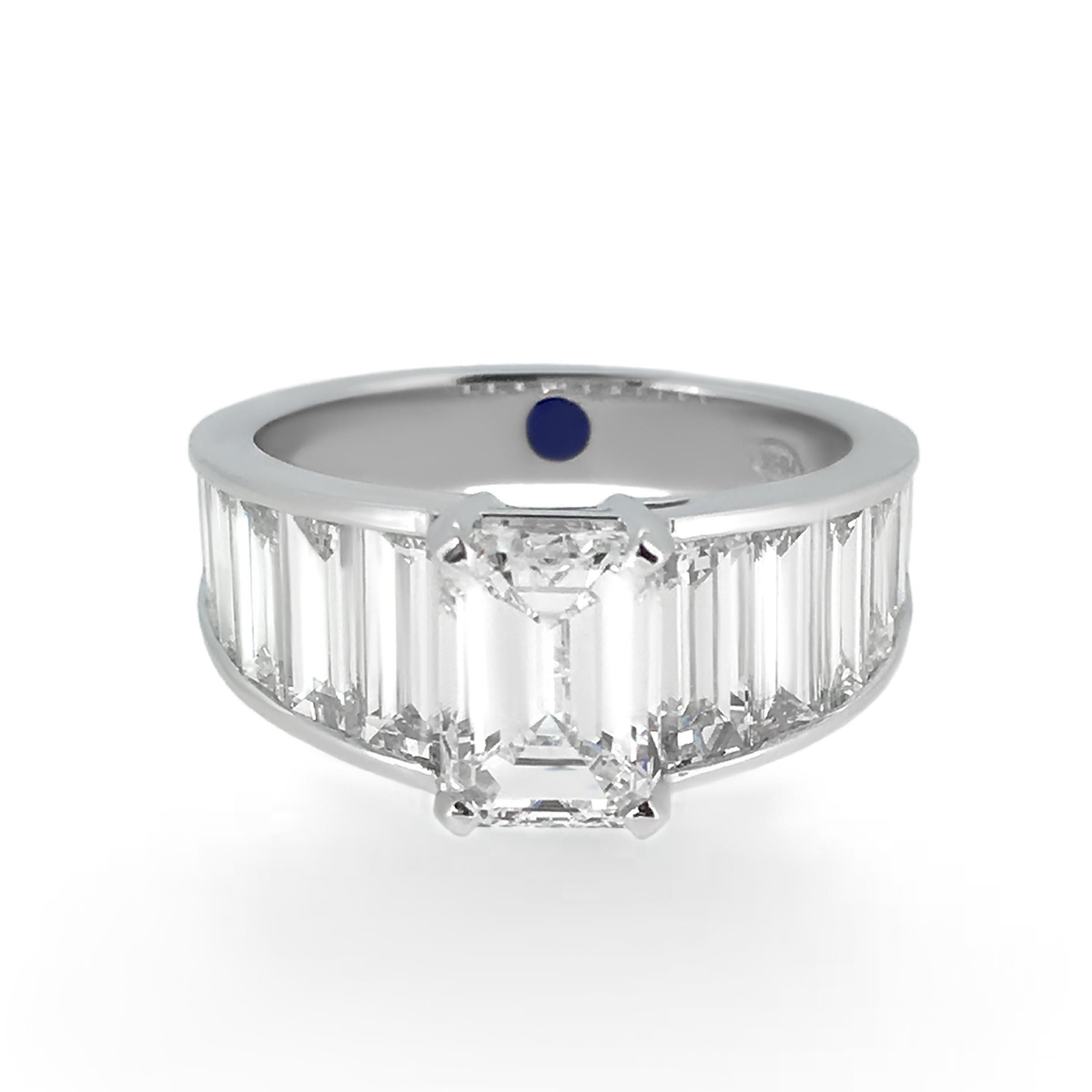 emerald cut diamond ring- haywards of hong kong