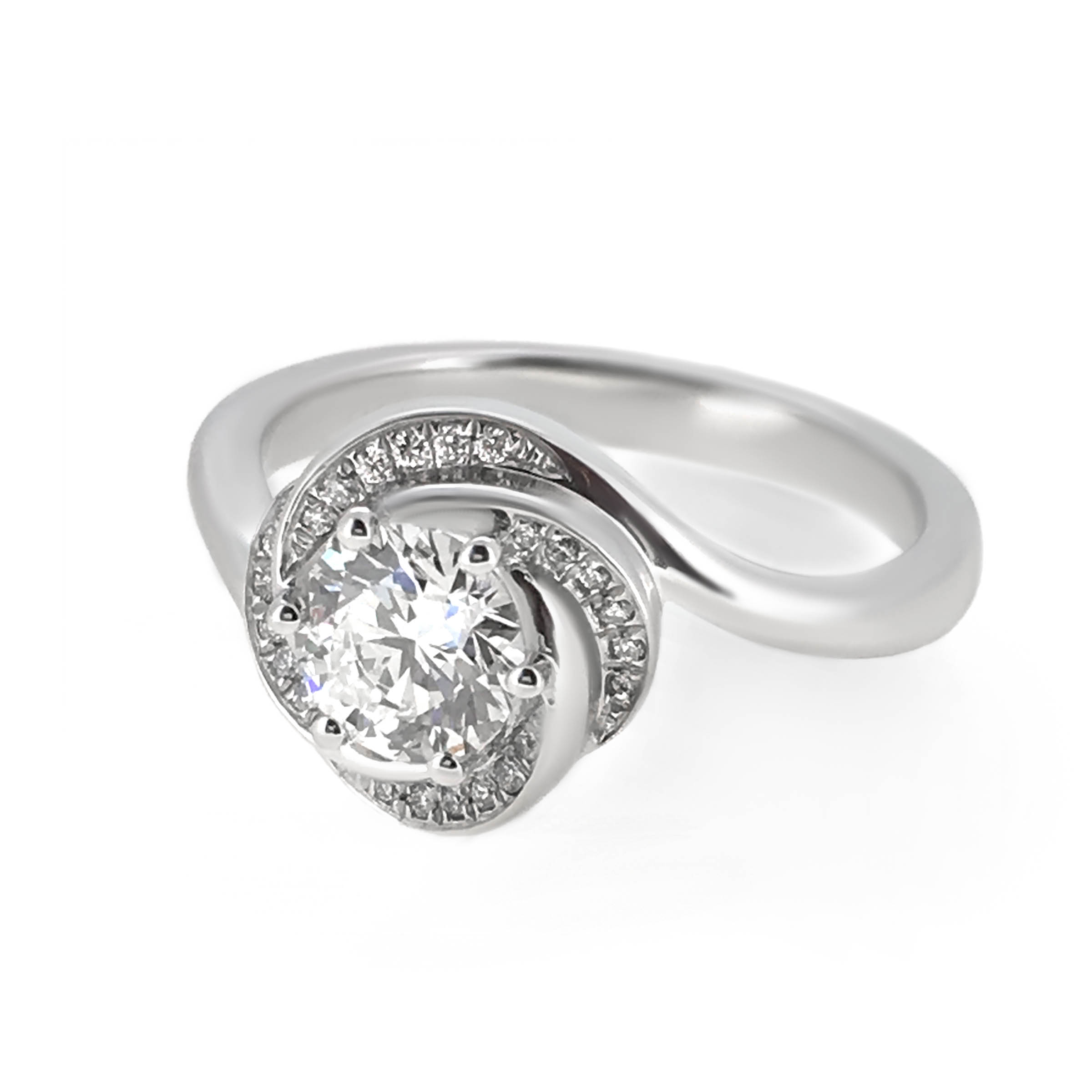 flower style diamond engagement ring- haywards of hong kong