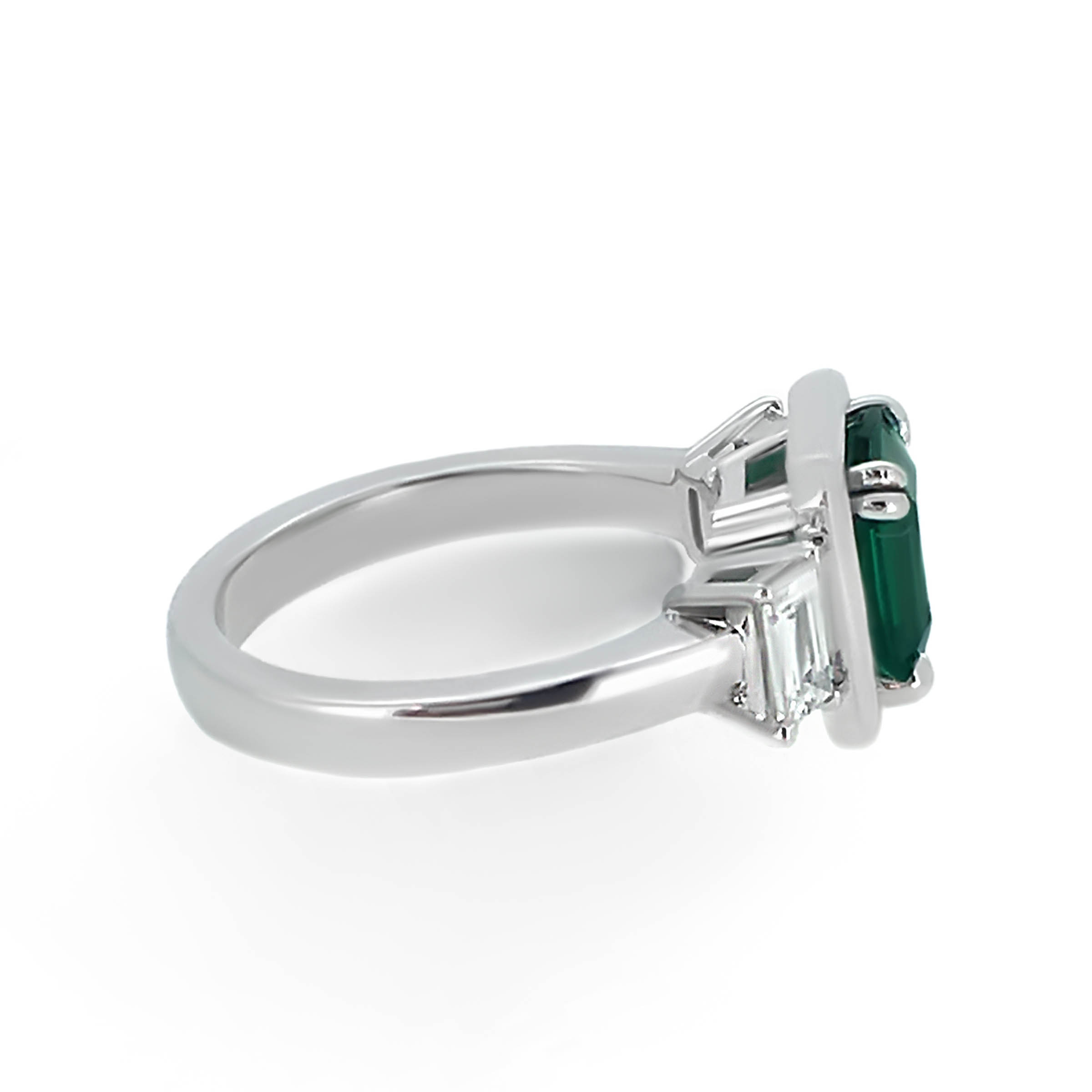 emerald and diamond engagement ring- haywards of hong kong