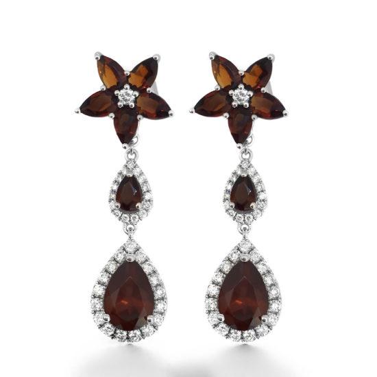 flower drop earrings- haywards of hong kong