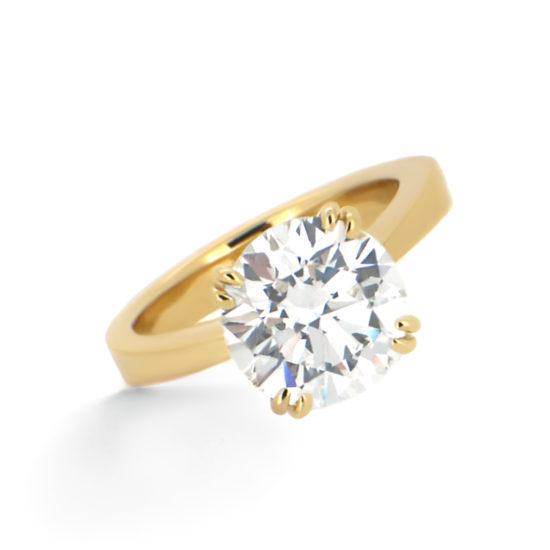solitaire diamond engagement ring- haywards of hong kong