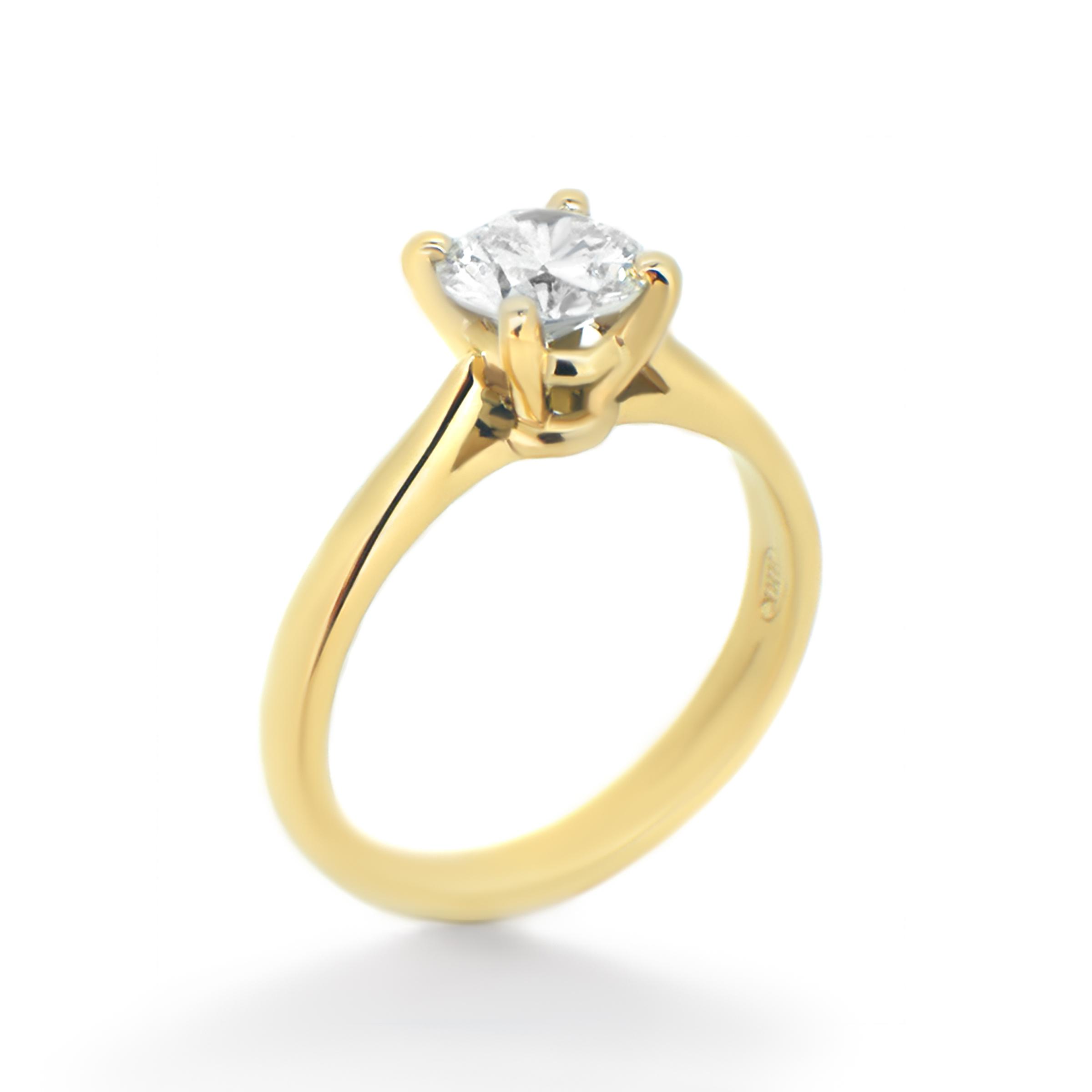 solitaire diamond ring- haywards of hong kong