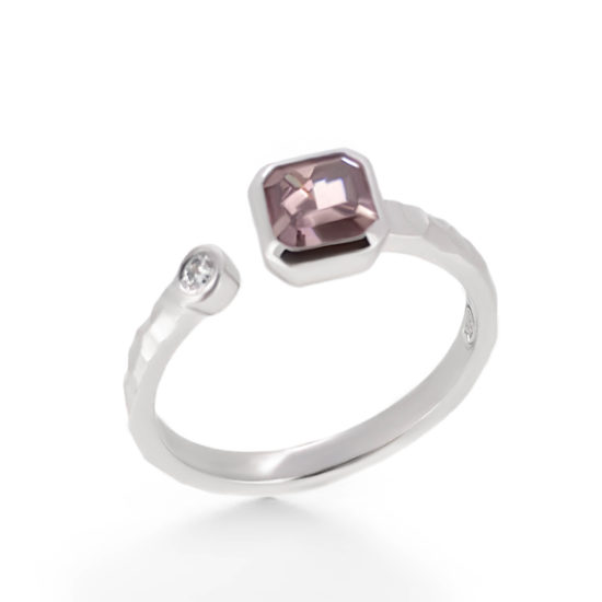 pink diamond engagement ring- haywards of hong kong