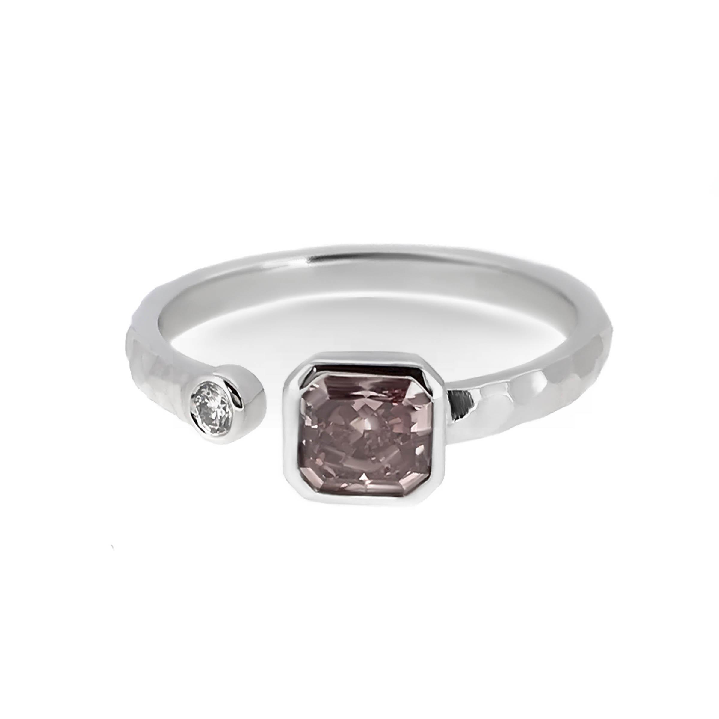 asscher cut modern diamond engagement ring- haywards of hong kong