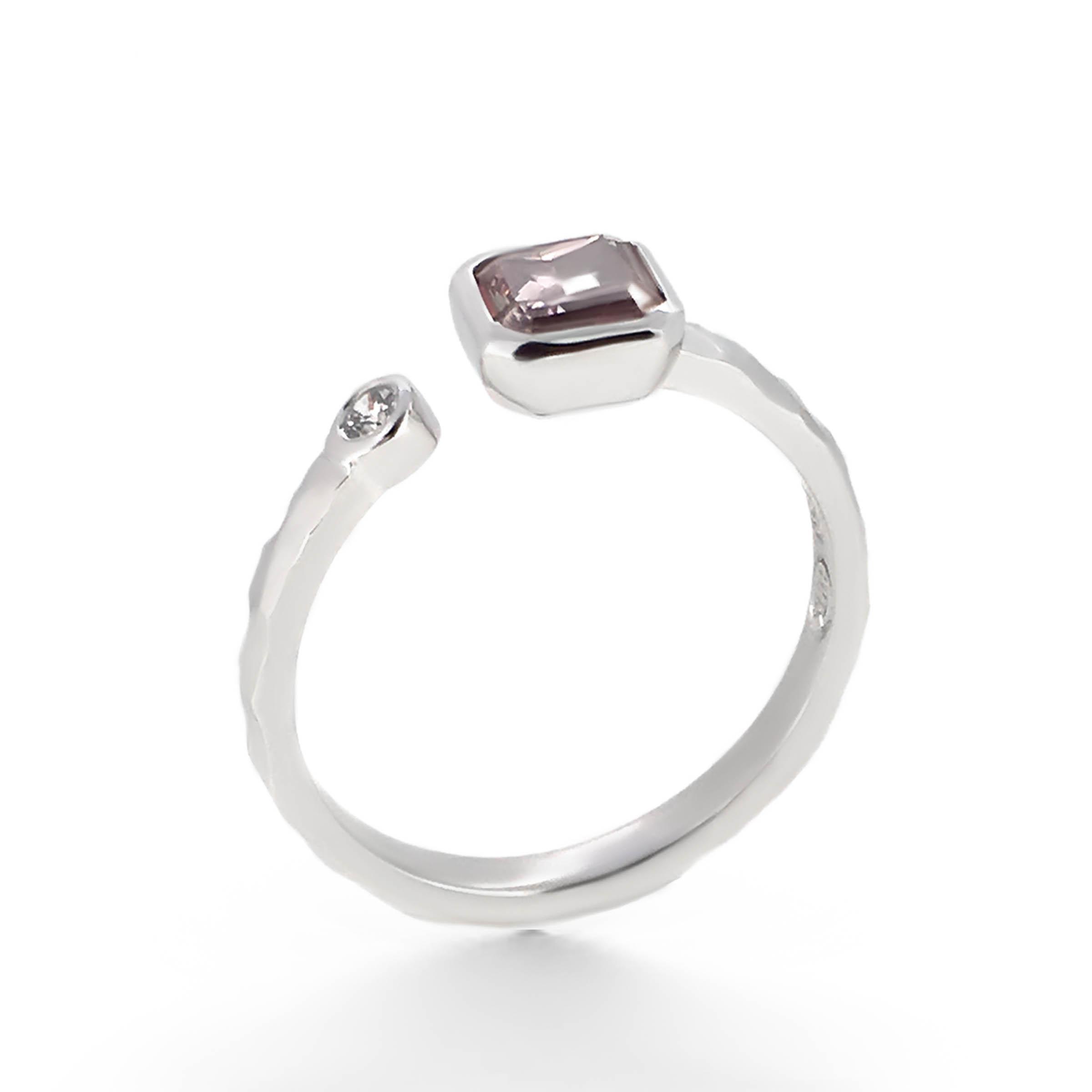 pink asscher cut diamond engagement ring- haywards of hong kong