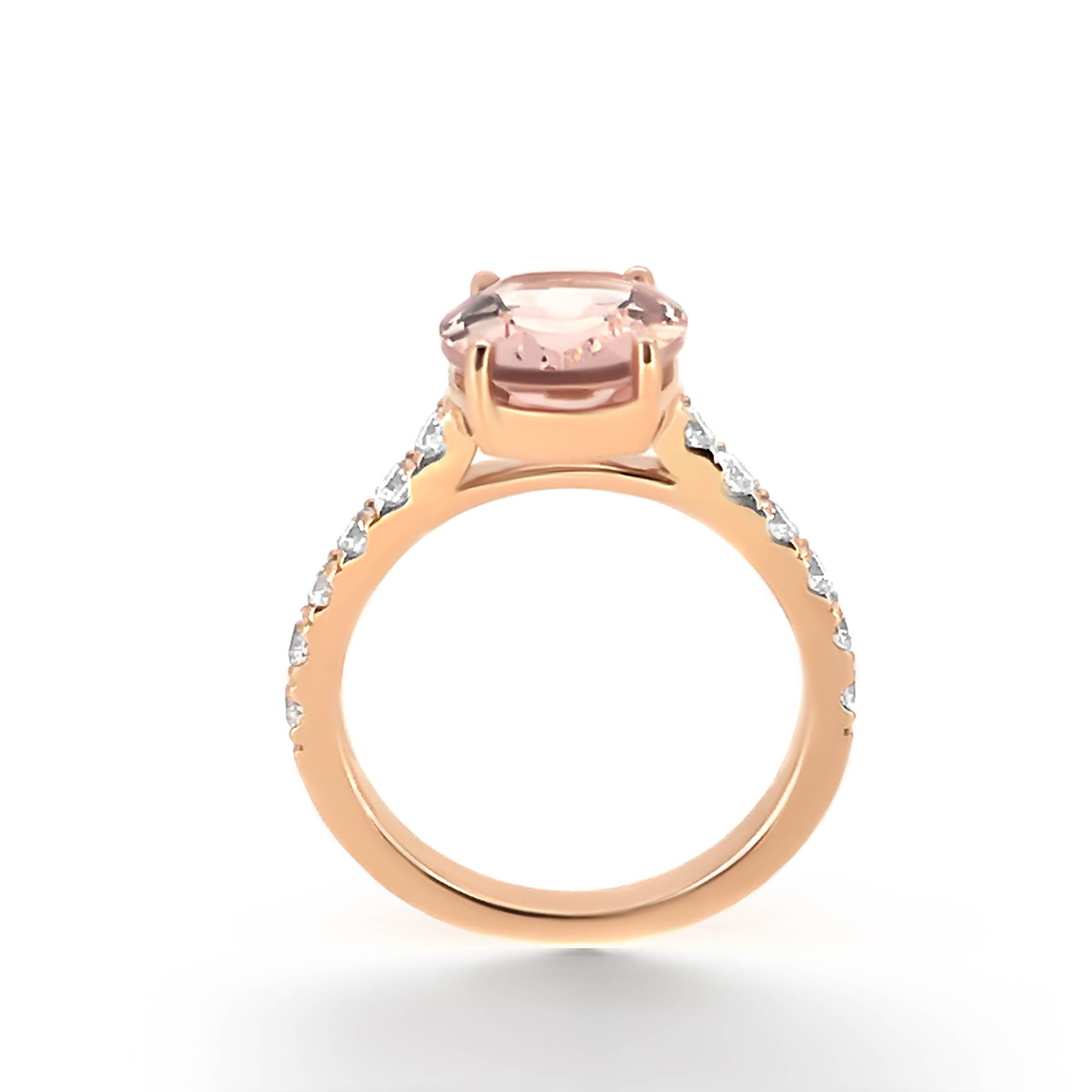 morganite and diamond engagement ring- haywards of hong kong