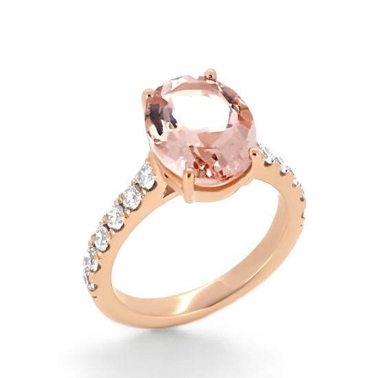 rose gold and pink sapphire engagement ring- haywards of hong kong