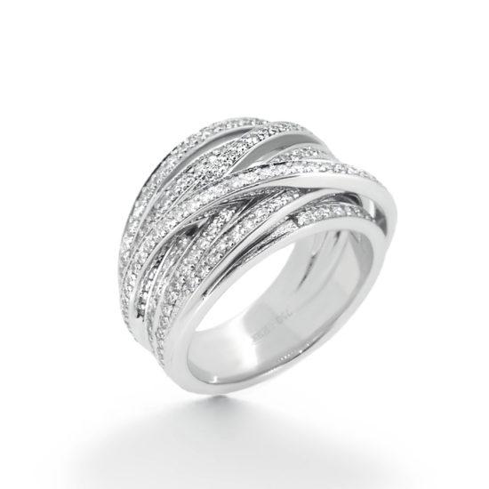 multilayer diamond ring- haywards of hong kong