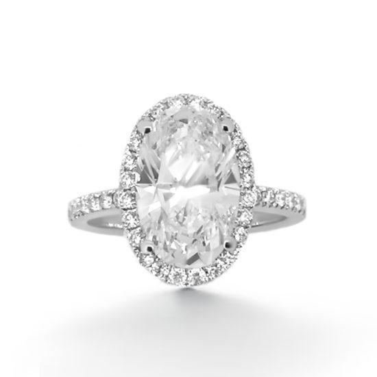 oval cut diamond engagement ring-haywards of hong kong