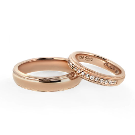 rose gold wedding bands- haywards of hong kong