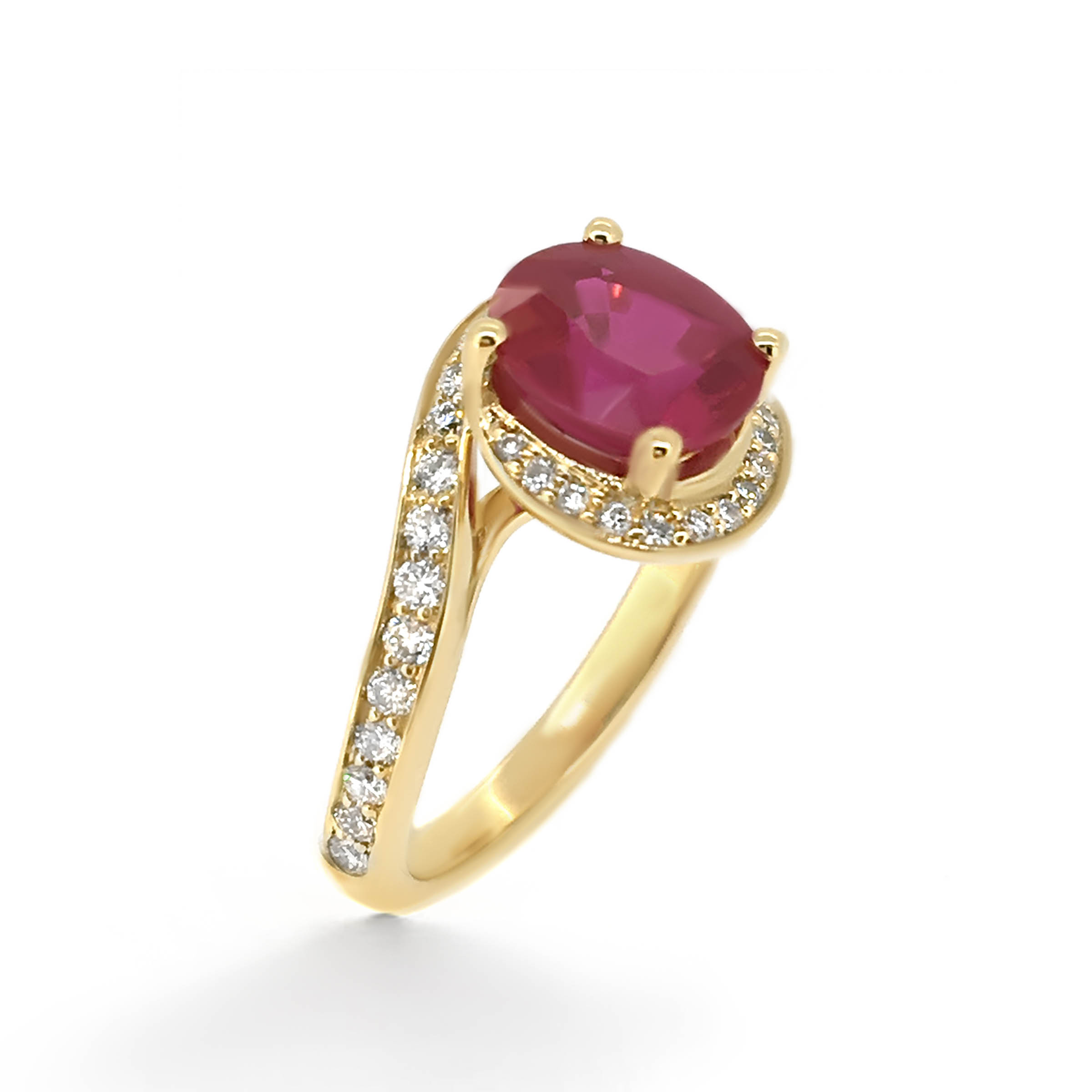 ruby and diamond engagement ring- haywards of hong kong