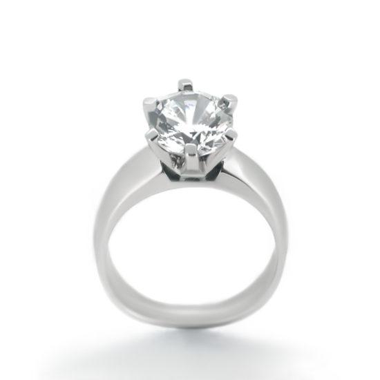 six prong solitaire diamond ring- haywards of hong kong