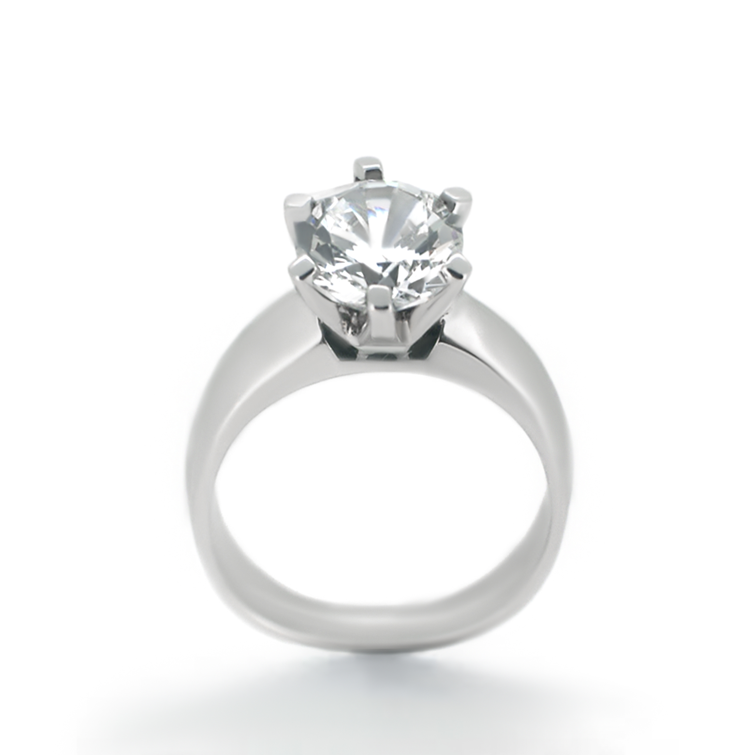 six prong solitaire diamond ring- haywards of hong kong