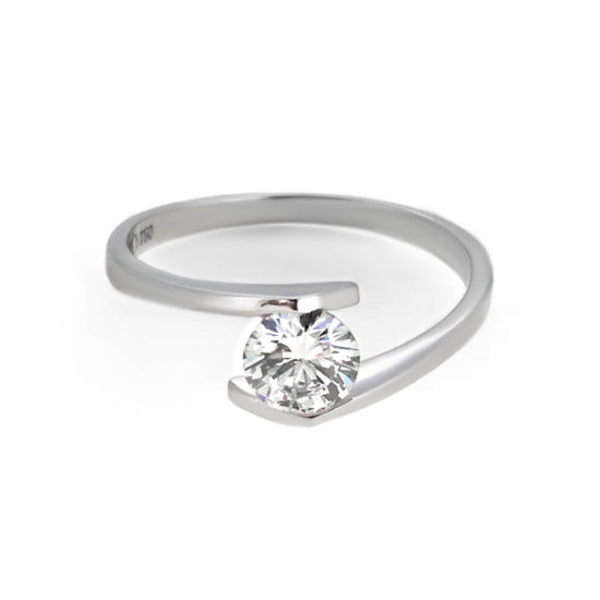 modern diamond engagement ring- haywards of hong kong