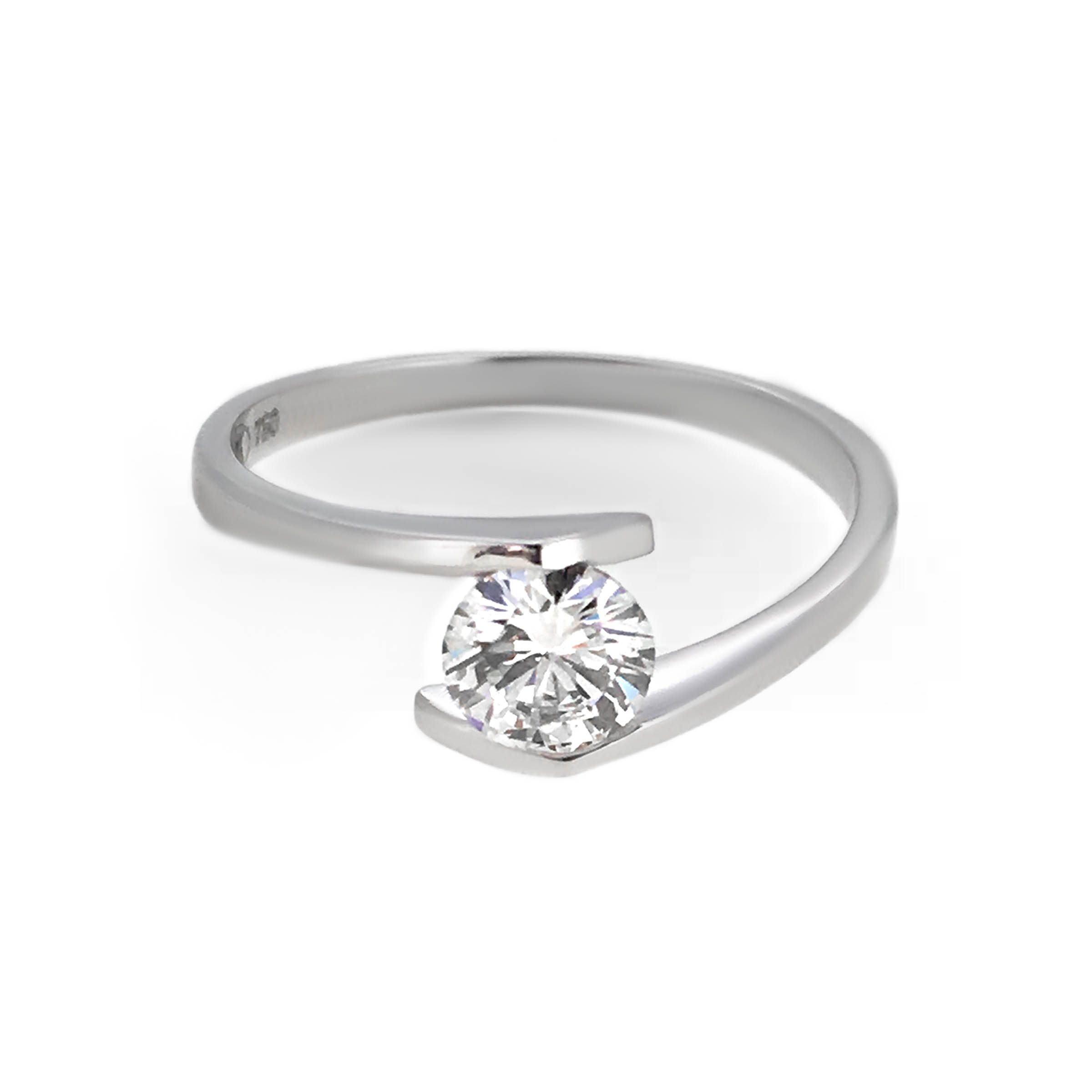 modern diamond engagement ring- haywards of hong kong