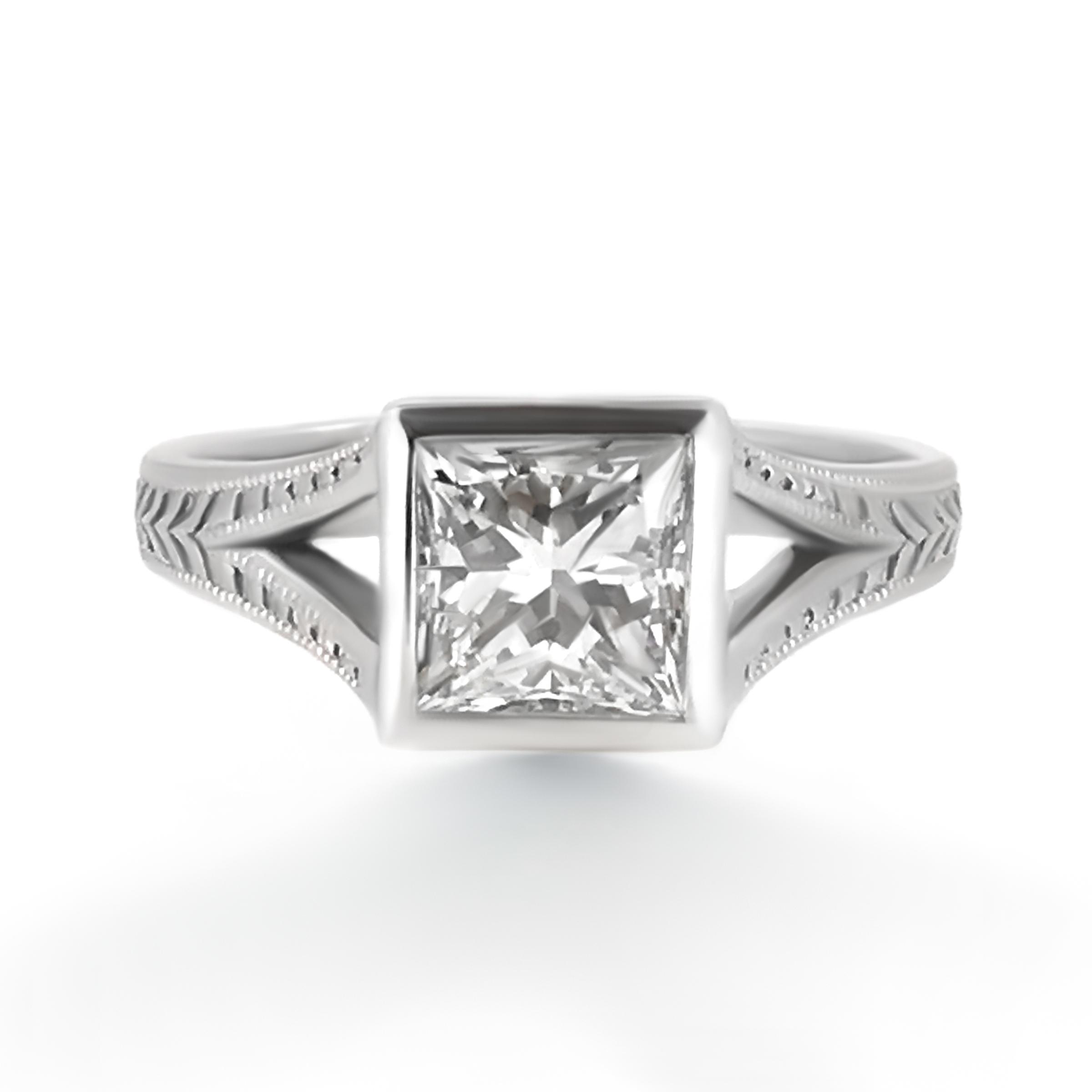 princess cut diamond ring- haywards of hong kong