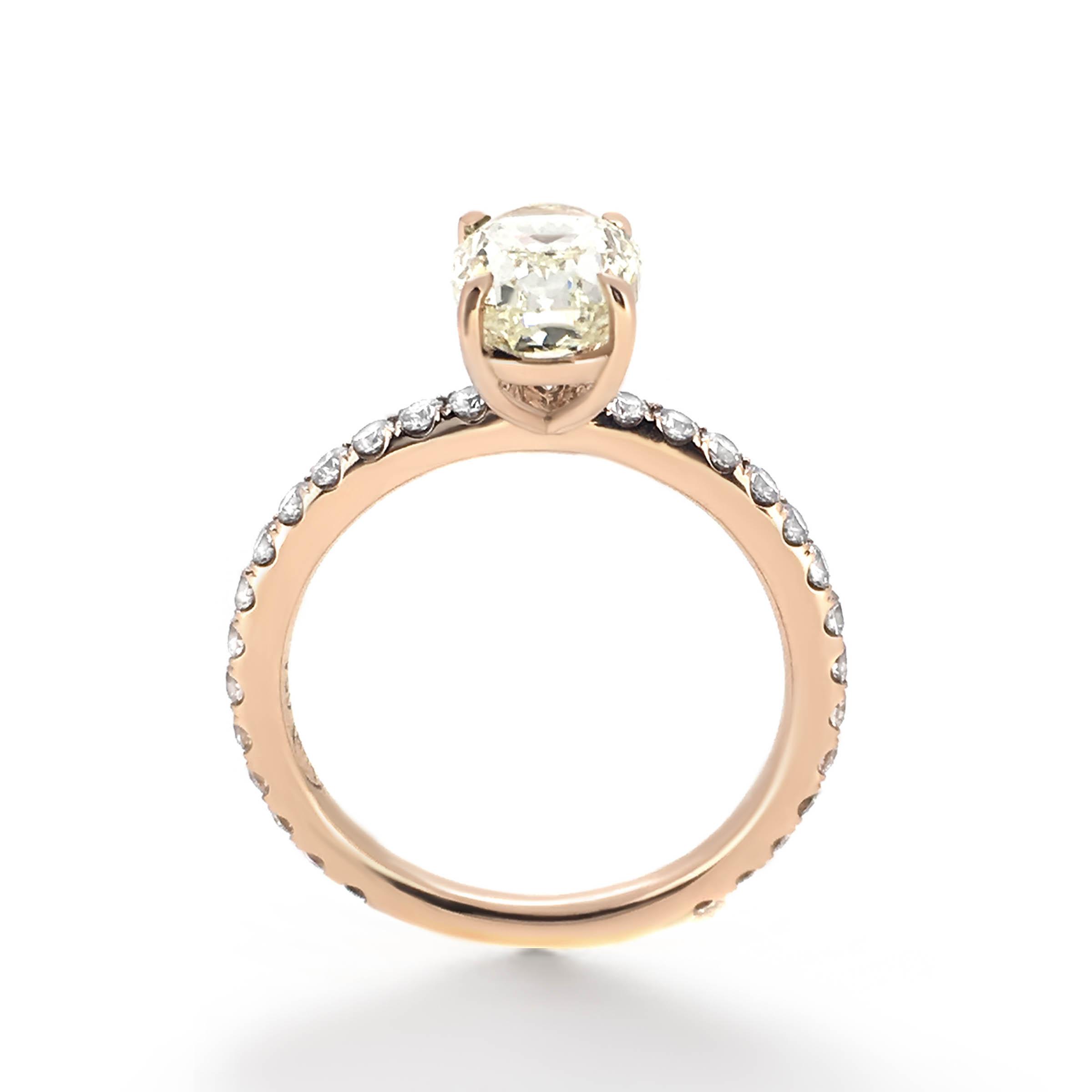 yellow oval diamond engagement ring- haywards of hong kong