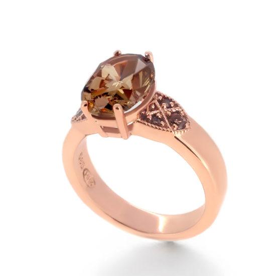 vintage style diamond engagement ring- haywards of hong kong