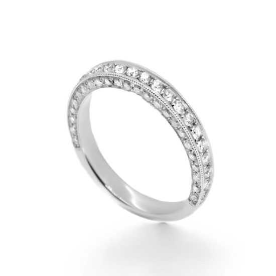 diamond wedding band- pave diamond band- haywards of hong kong