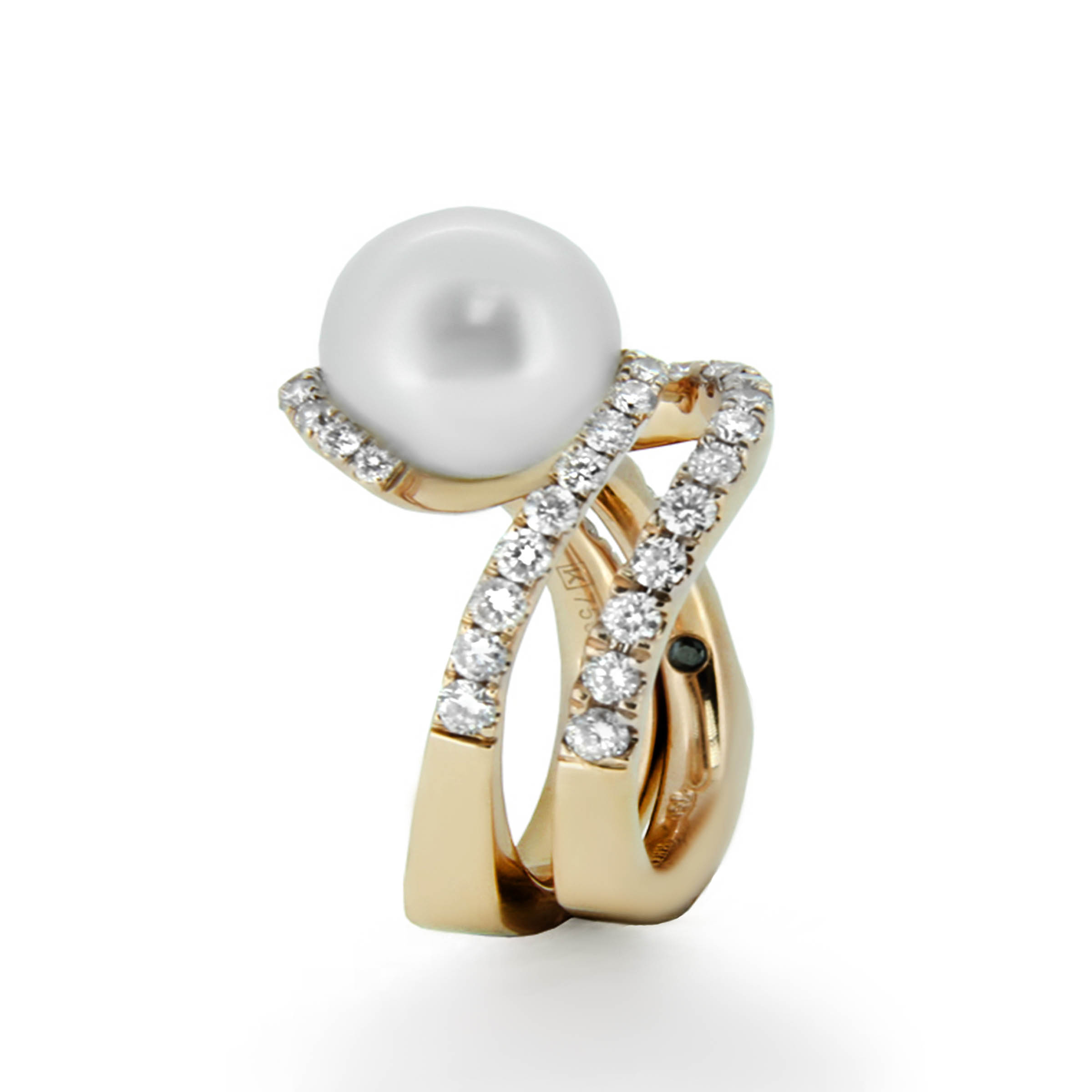 pearl and diamond engagement ring- haywards of hong kong