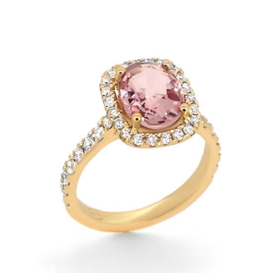 pink sapphire and diamond engagement ring- haywards of hong kong