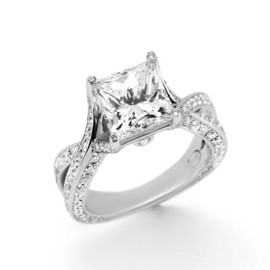 princess cut diamond engagement ring- haywards of hong kong