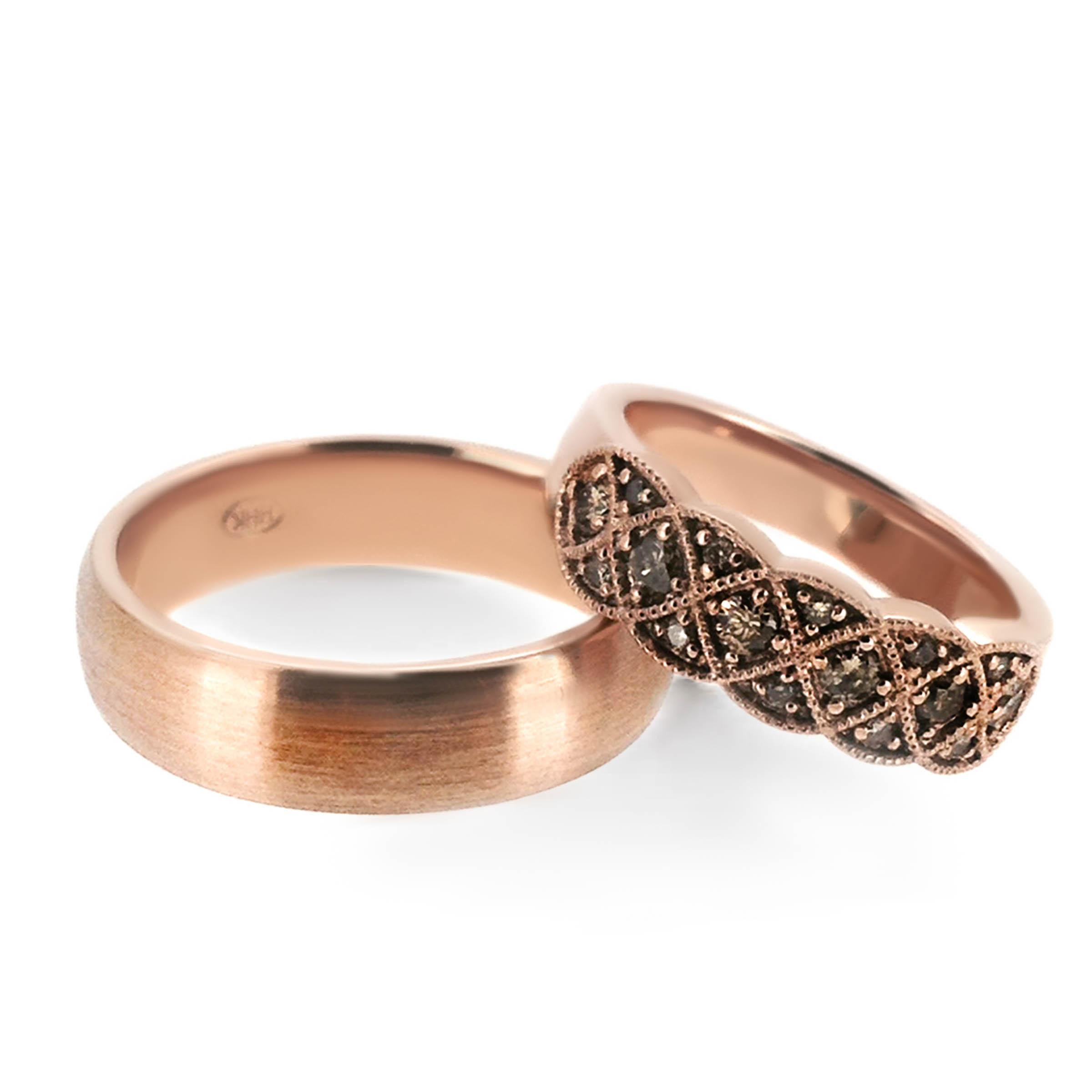 rose gold wedding bands- haywards of hong kong