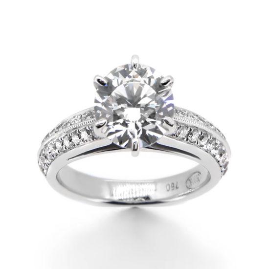 vintage style engagement ring- haywards of hong kong