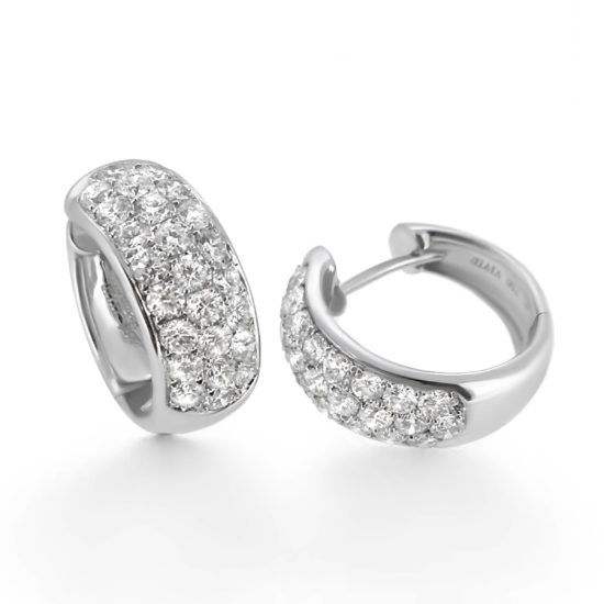 diamond hoop earrings- haywards of hong kong