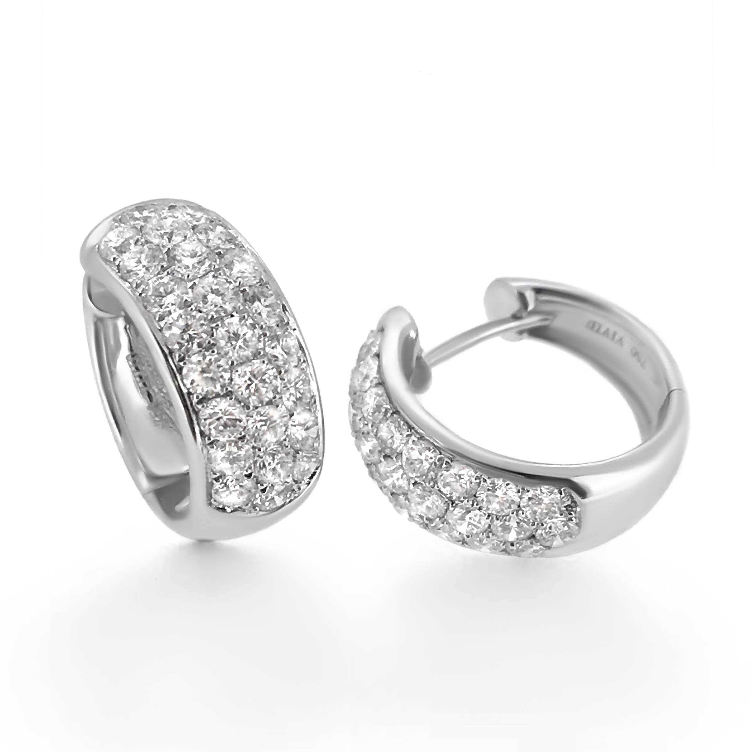 diamond hoop earrings- haywards of hong kong