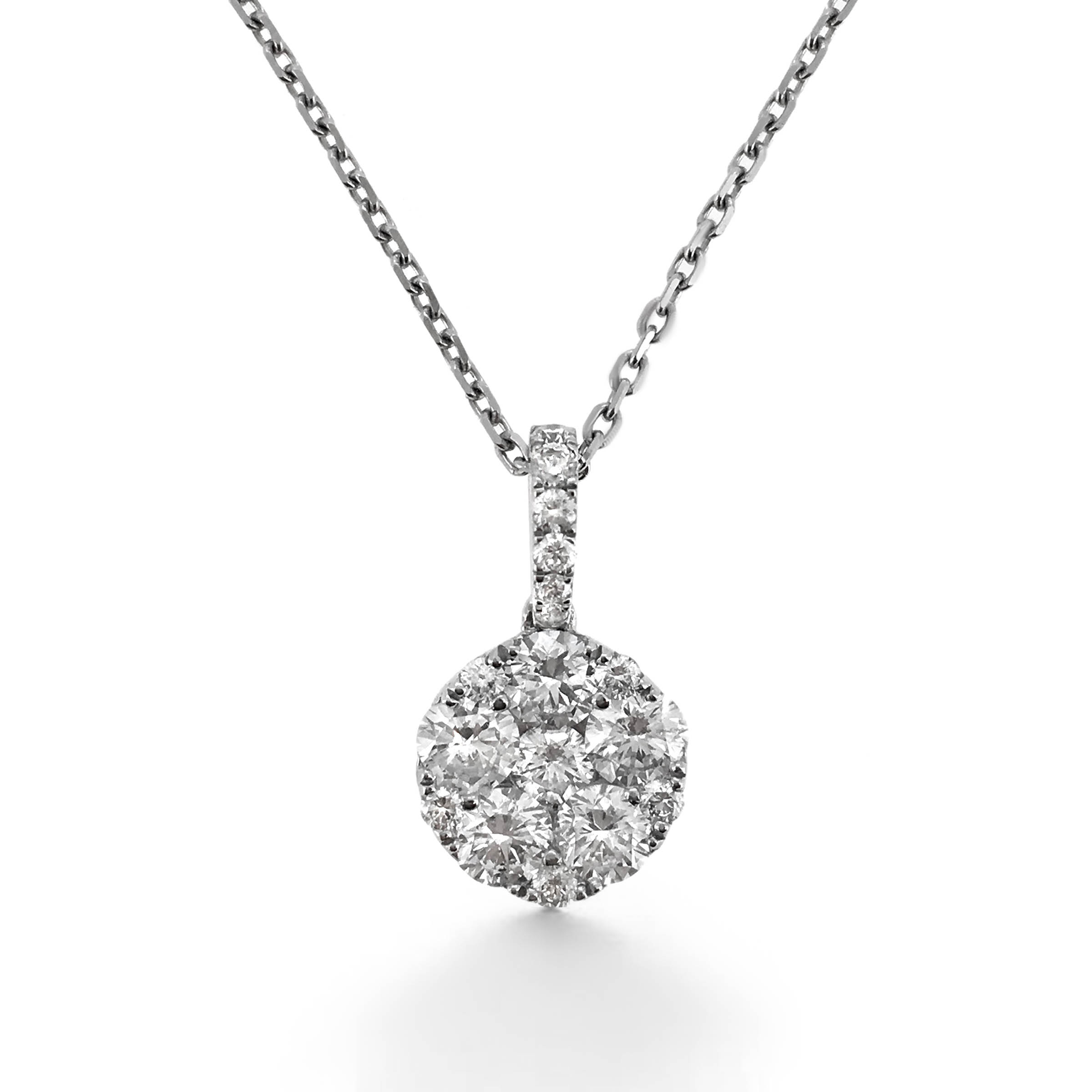 diamond pendant- illusion set- haywards of hong kong