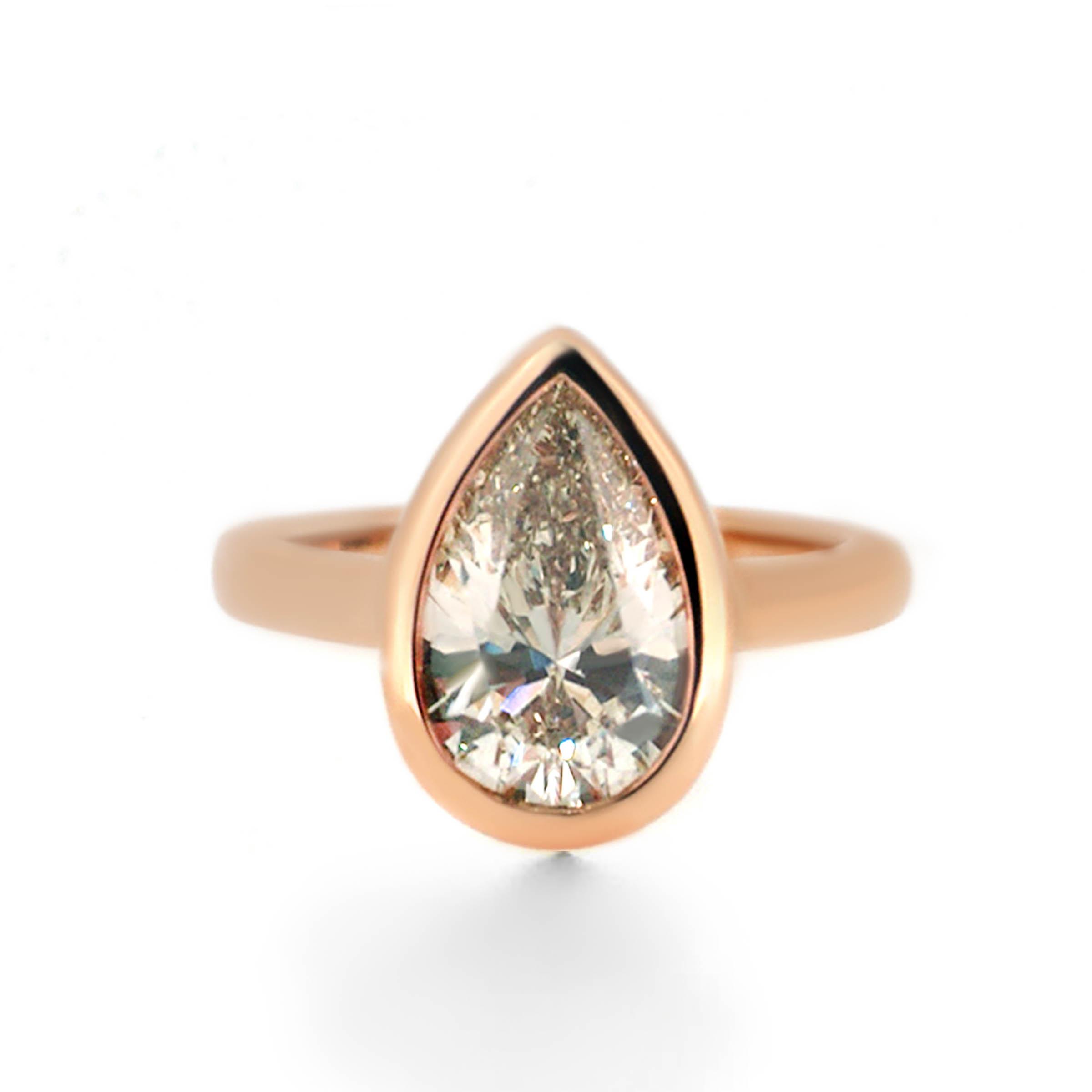 champagne diamond engagement ring- haywards of hong kong