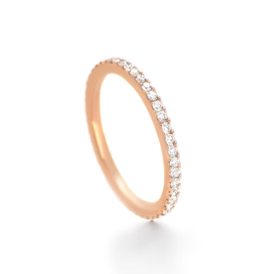 rose gold brides ring