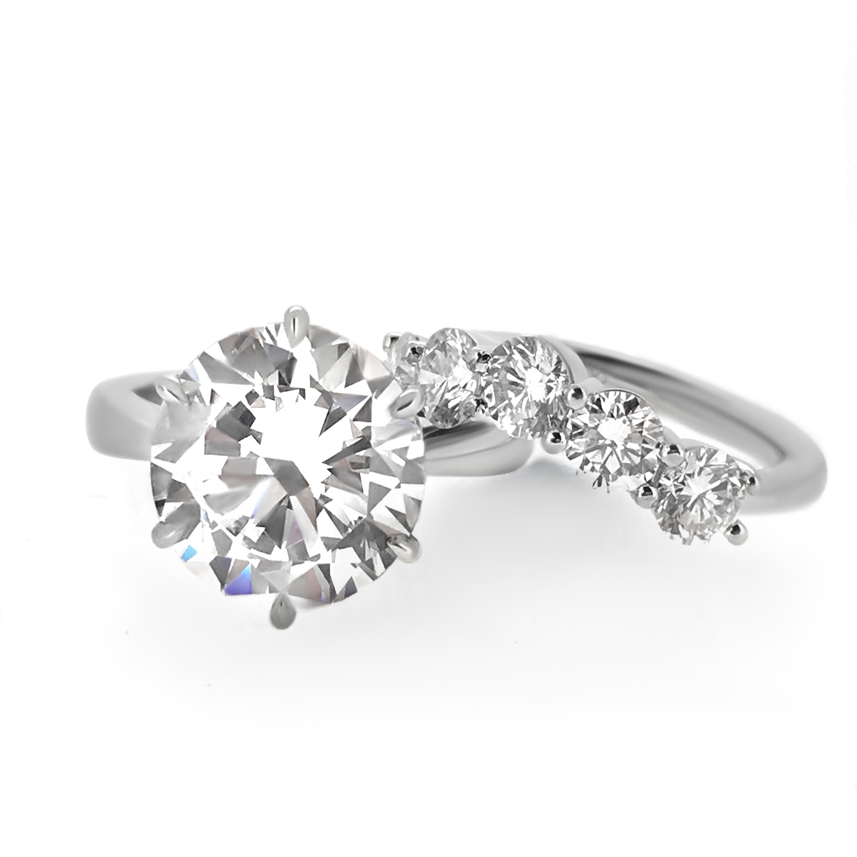 six prong engagement ring