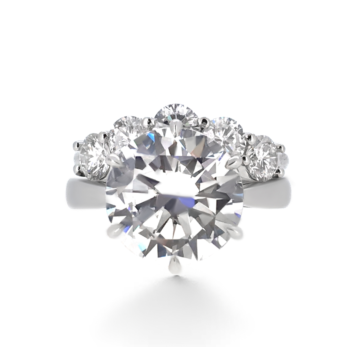 six prong diamond engagement ring