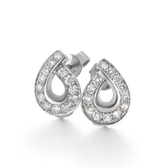 diamond tear drop stud earrings