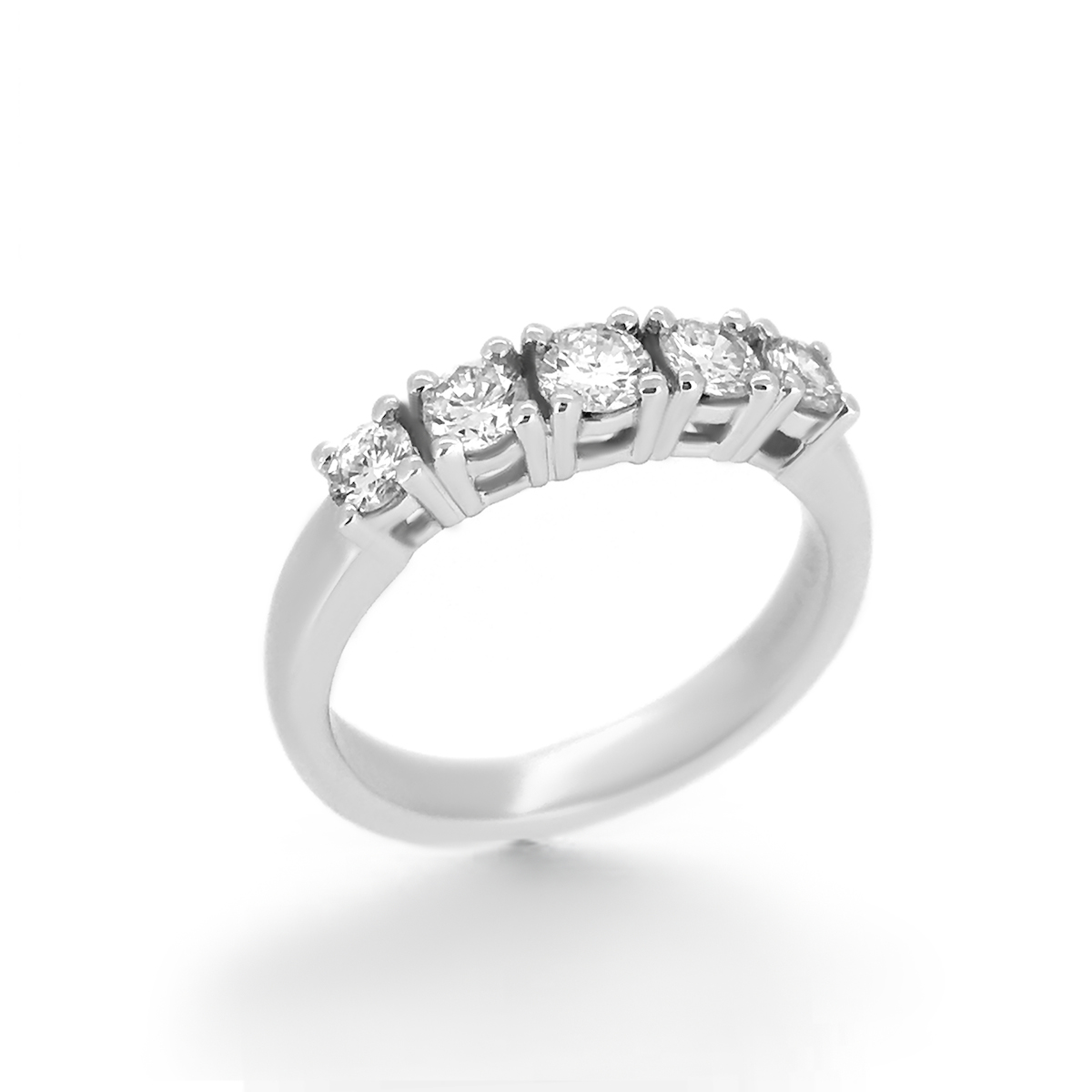 five diamond wedding band
