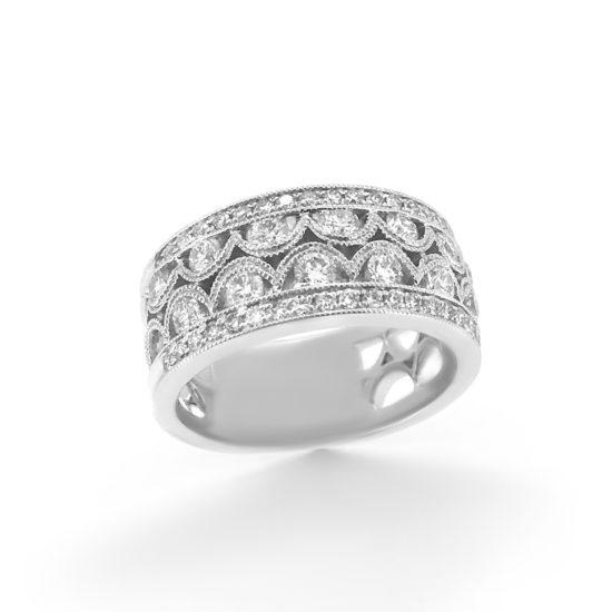 vintage diamond cocktail ring
