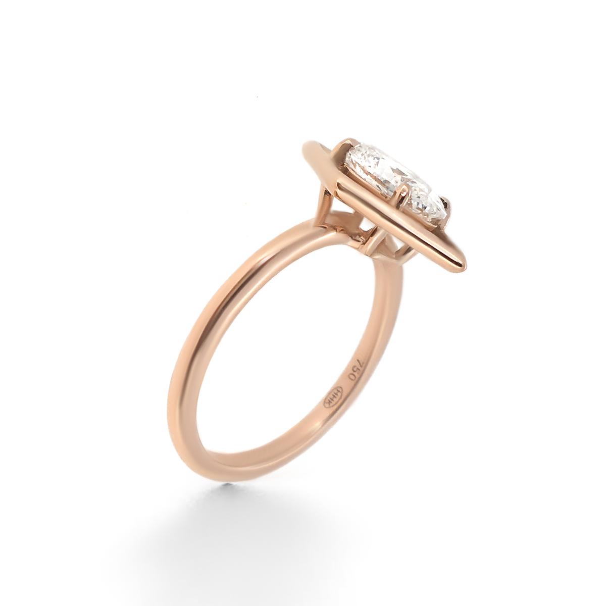 geometric engagement ring