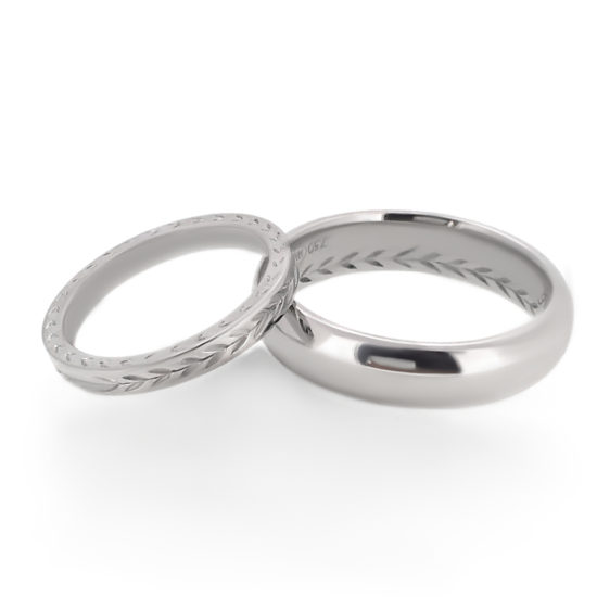 pattern wedding bands