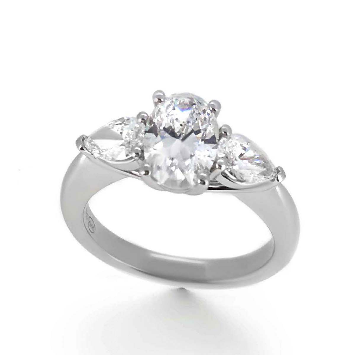 trilogy ring oval engagement kong rings and hong of haywards diamond product pears