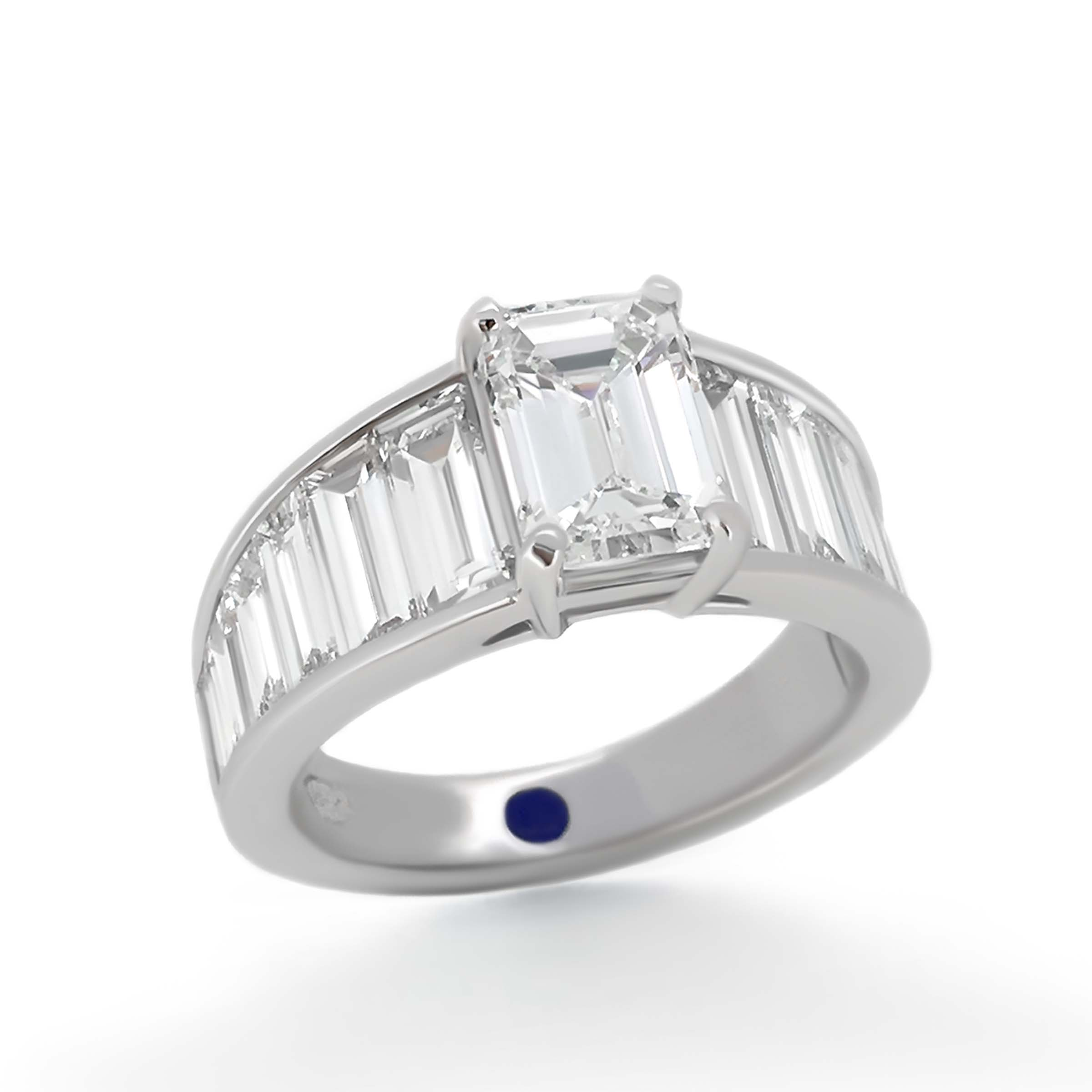 pin in stone style greek engagement a three the ring popular as rings became or diamond trilogy