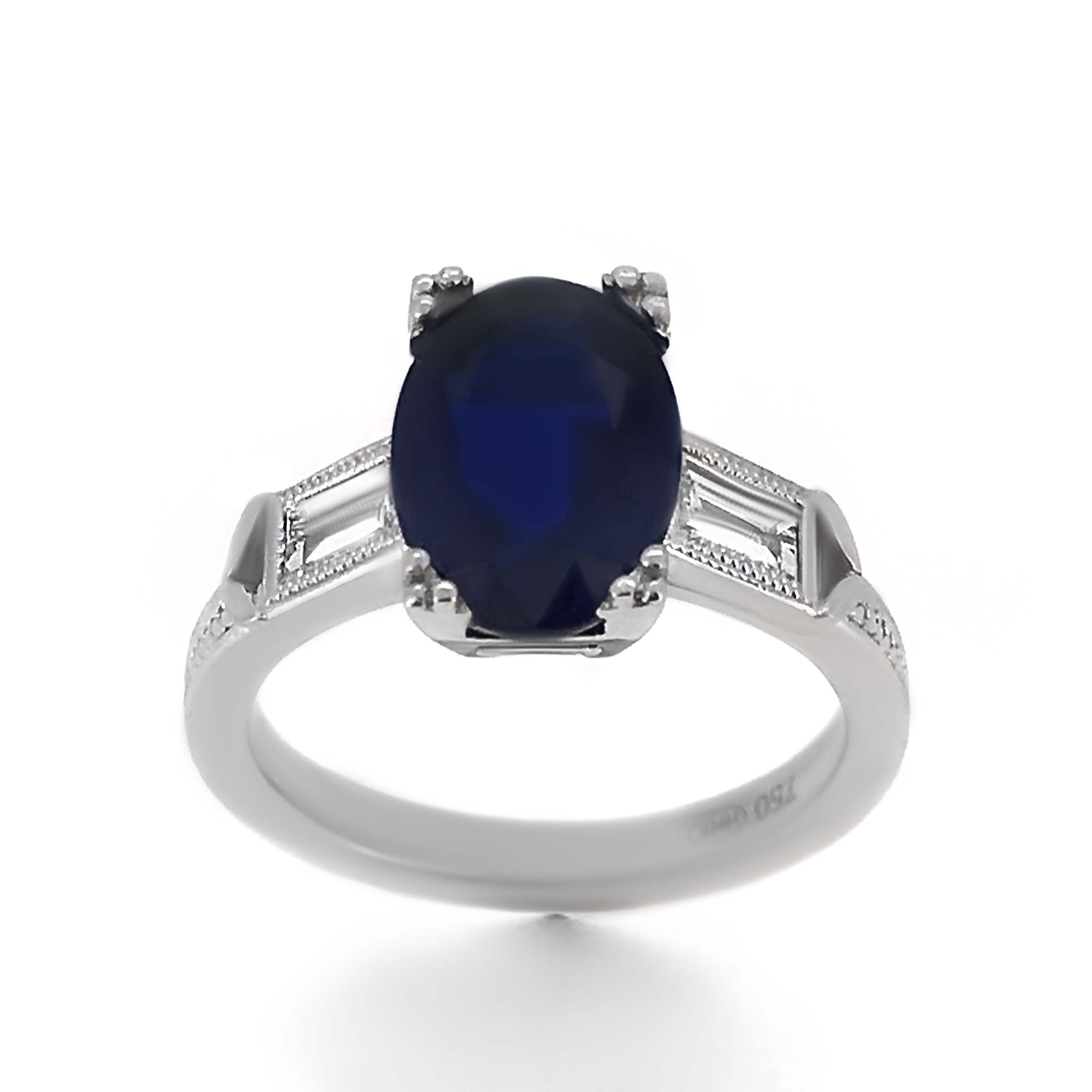 Vintage Style Sapphire Engagement Ring Haywards Of Hong Kong