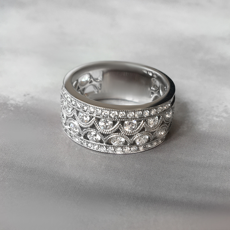 south marquise engagement diamond cocktail sea modern rings sapphire with pearl ring