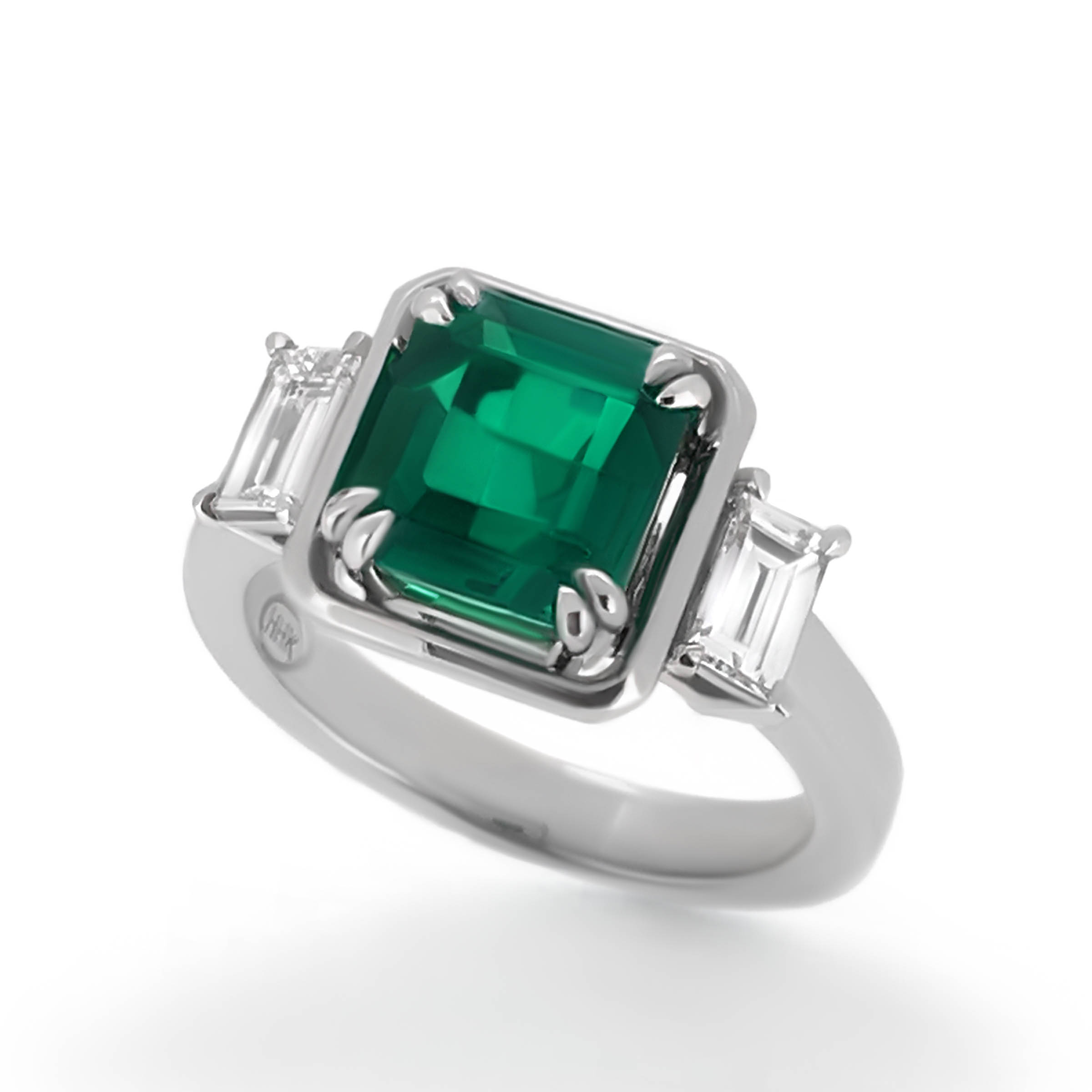 ed emerald tourmaline diamond wedding white maya rmyl uk ring fine gold jewellery stone rings leaf engagement london modern angeles los