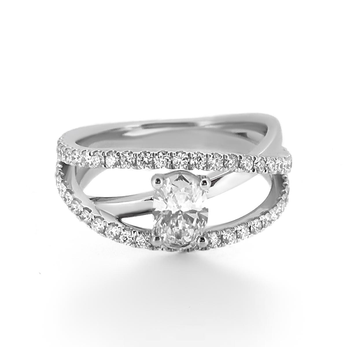 Modern Oval Diamond Engagement Ring Haywards Of Hong Kong
