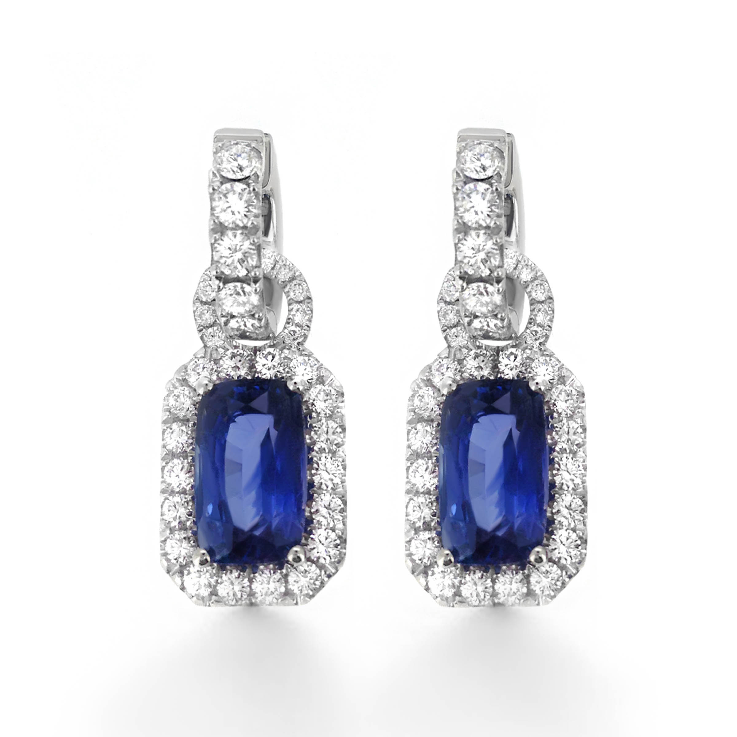 earrings top diamond shop oval sapphire roman double jules halo