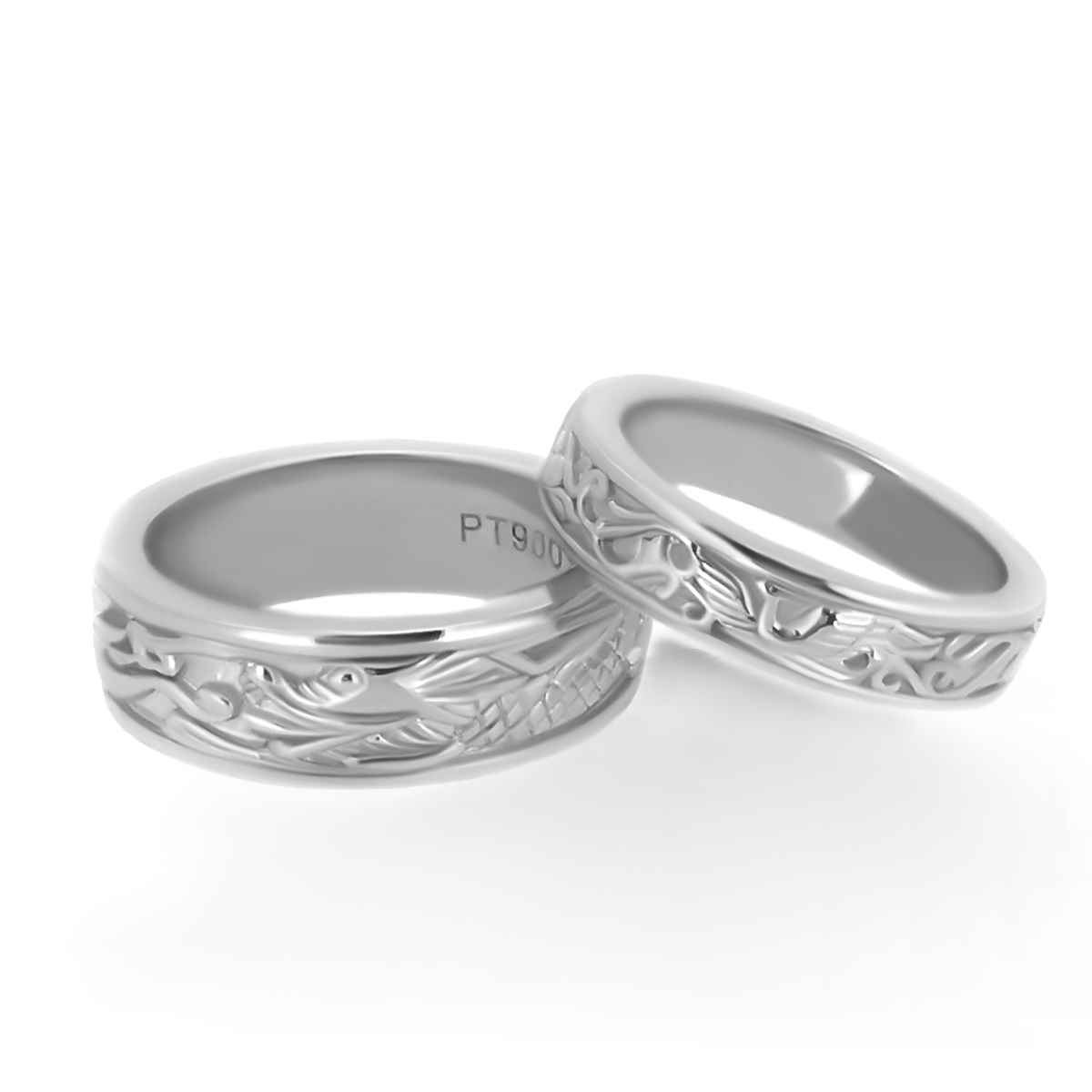 Phoenix and Dragon Wedding Bands Haywards of Hong Kong